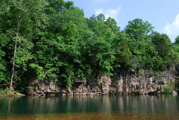 Photograph of the swimming hole at Blue Spring Campground, Ozark National Scenic Riverway