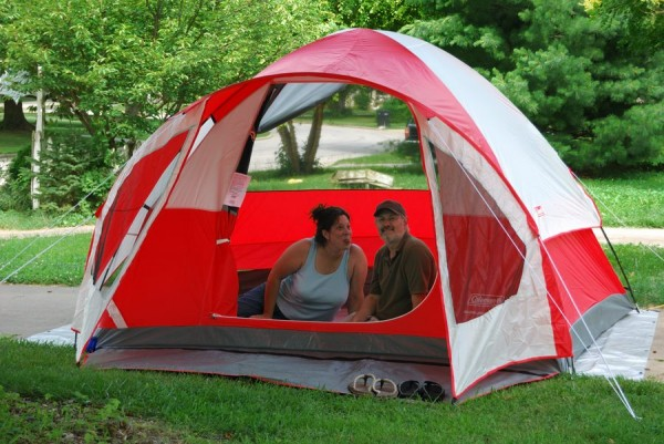 Photograph of a Coleman Sunlight Ridge tent - 2010