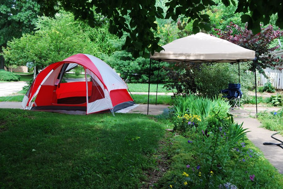 Photograph of a Coleman Sunlight Ridge Tent and Gazebo & Gear Review: Coleman Sunlight Ridge tent - Ozarks Walkabout