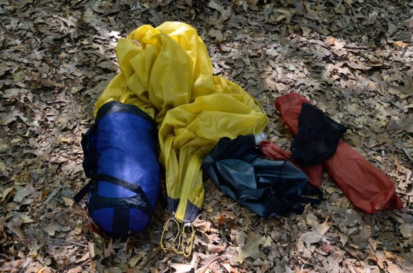 MSR Mutha Hubba Tent flysheet and compression sack