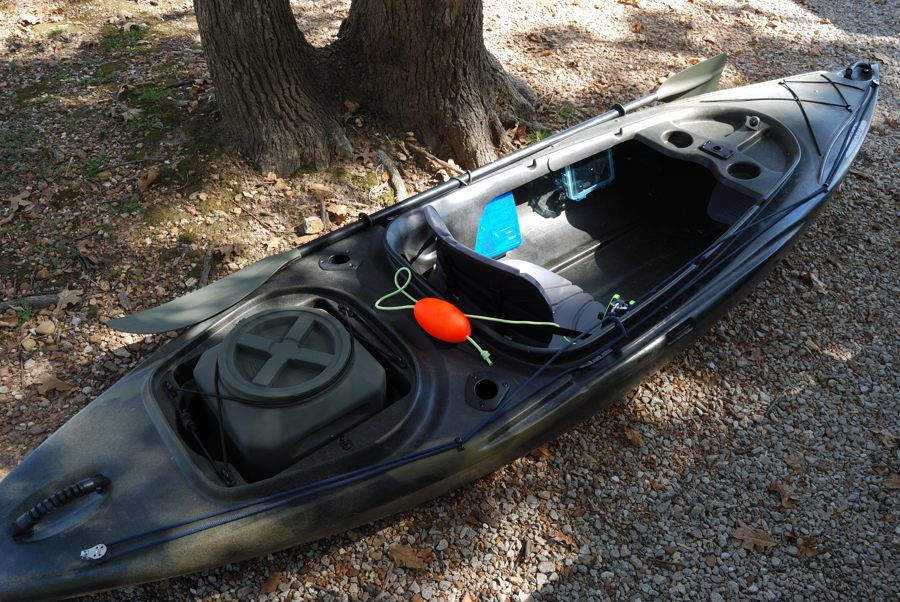 Garys Ascend FS10 Kayak Already For The Lake And Fishing