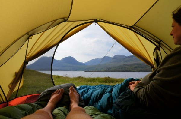 The scenery from our Mutha Hubba tent by Loch Bad a'Ghaill, Scotland