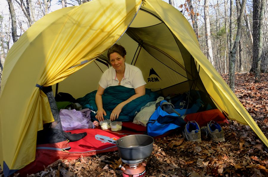 Cooking breakfast in the dorrway of a Mutha Hubba tent.  sc 1 st  Ozarks Walkabout : mountain trail tent - memphite.com
