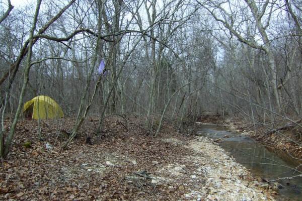 Camping at Edward Beecher Recreation Area, Berryman Trail Missouri