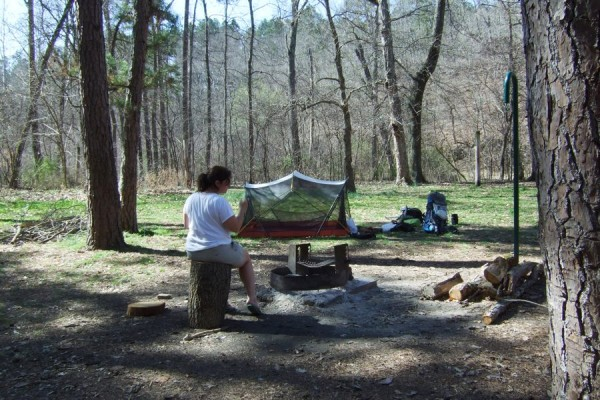 Photograph of a campsite at Brazil Creek Campground, Missouri