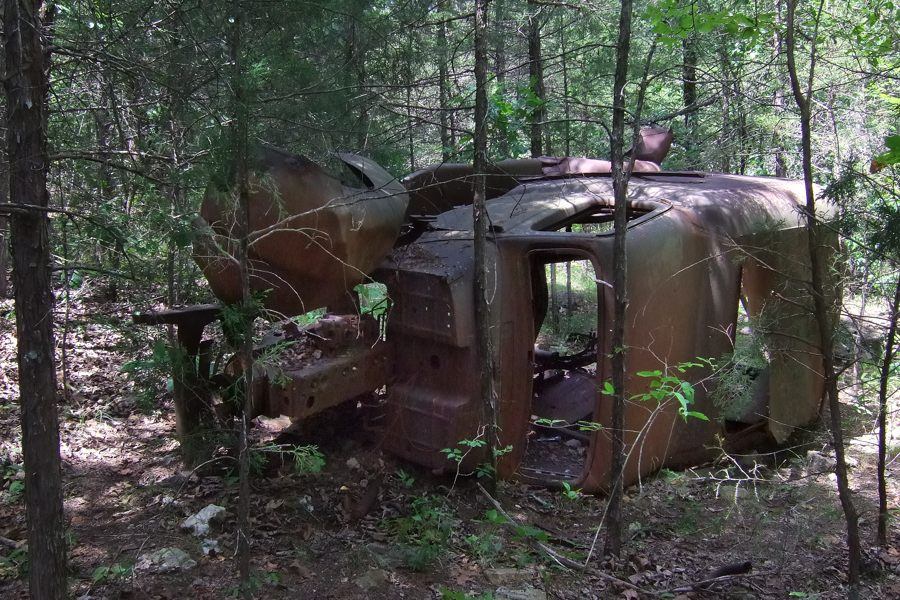 Abandoned Vehicle Busiek State Forest And Wildlife Area Ozarks