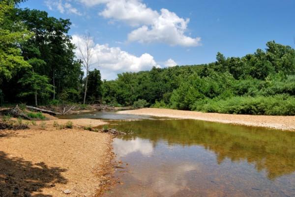 Huzzah Creek at Red Bluff Campground