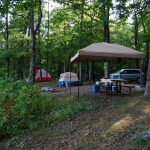 Pines Overlook Campsite, Red Bluff Campground, Missouri