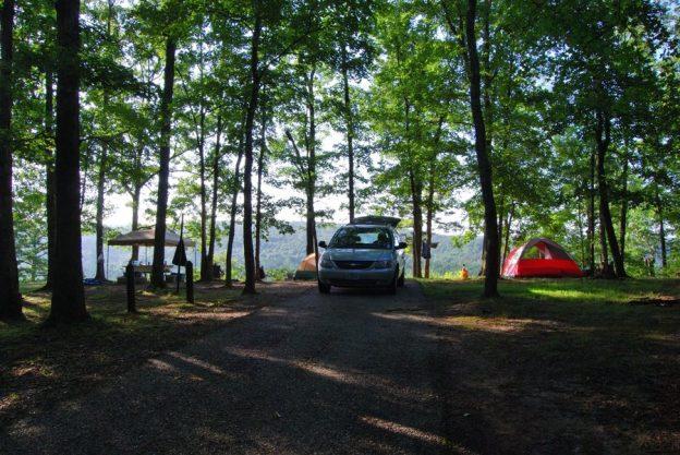 picture of campsite no 45 at red Bluff Campground, Davisville, Missouri