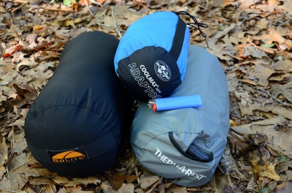 Go-Lite 1+ season quilt, Sea to Summit sleeping bag liner and NeoAir All Season Sleeping Pad