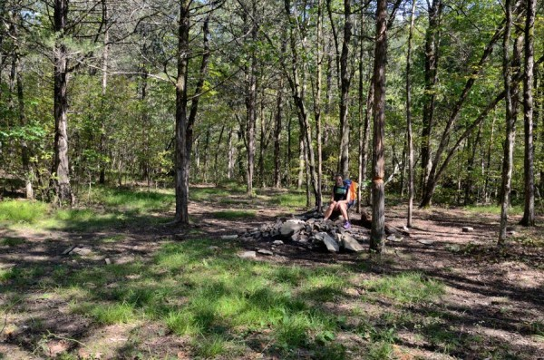 Campsite at the end of the Devil's Den West Trail