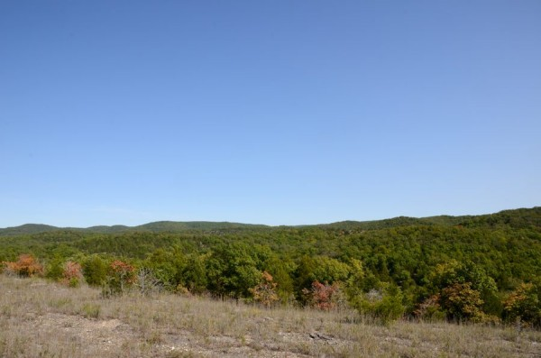 The watch tower at the Tower trail head can just be seen as a speck on the top of the ridge