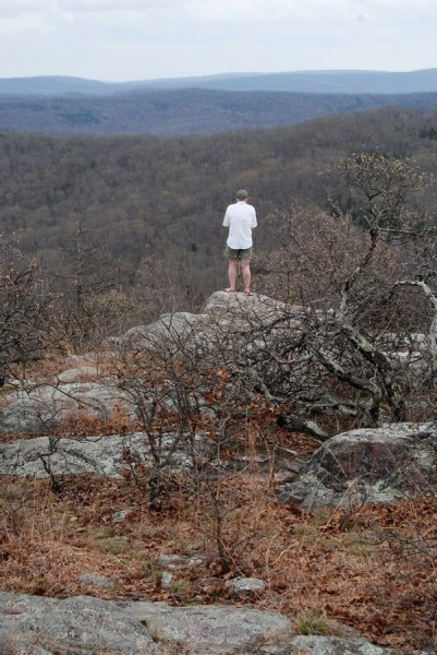 Gary near the summit of Bell Mountain in Iron County, Missouri