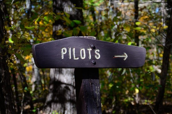 Hercules Glades Wilderness - Pilots Trail sign