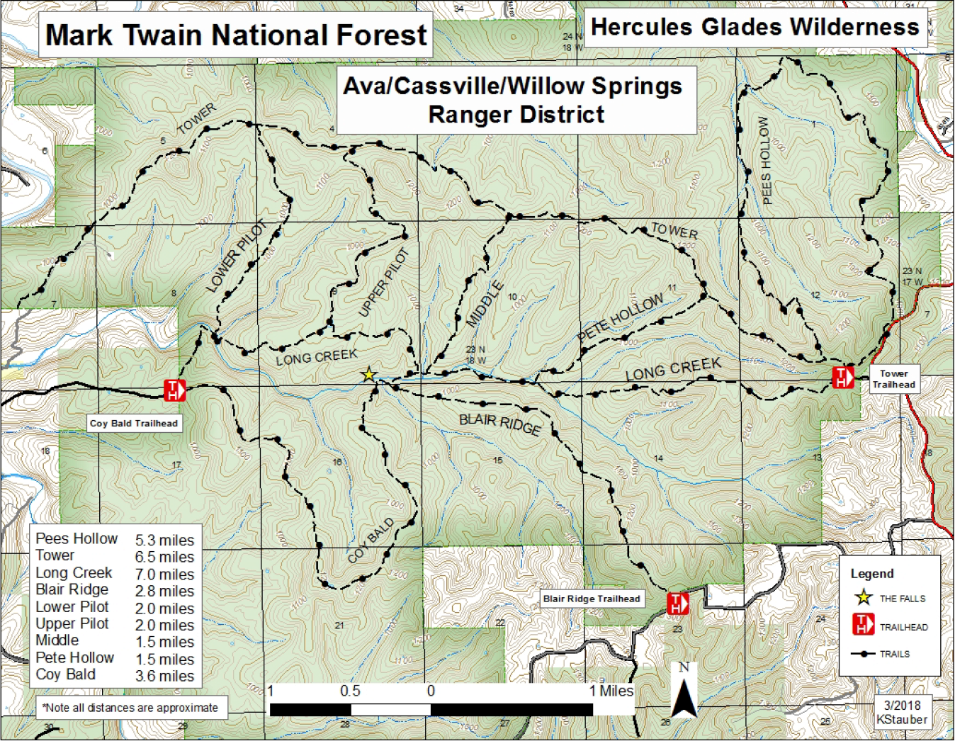Trail Map: Hercules Glades Wilderness - Ozarks Walkabout