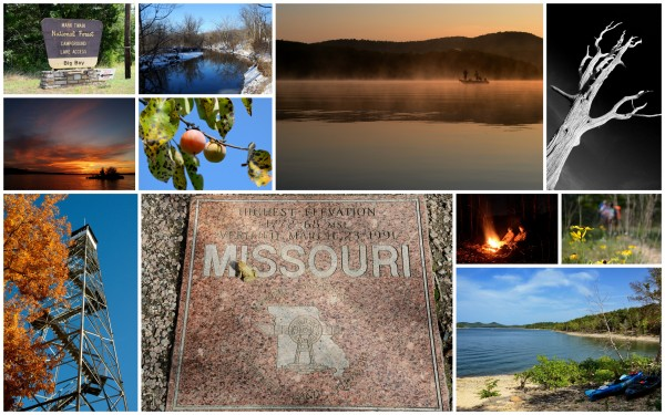 Collage of images of the Missouri Ozarks