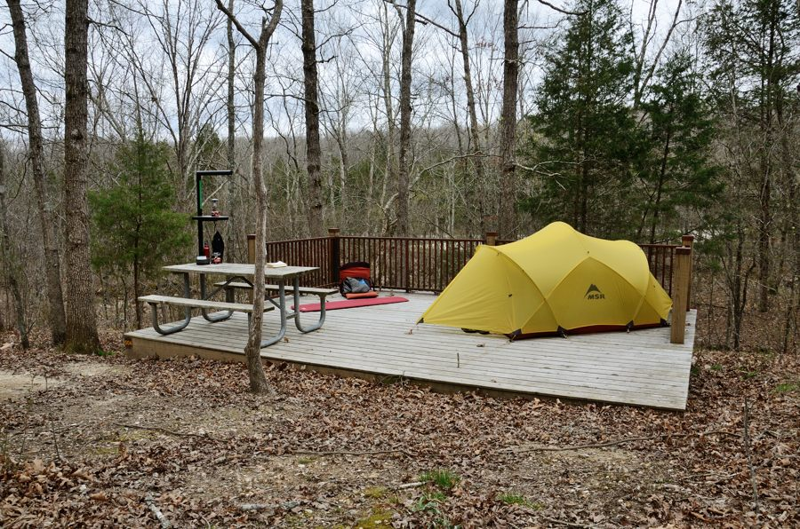 Walk In Camp Site At Johnson S Shut Ins State Park