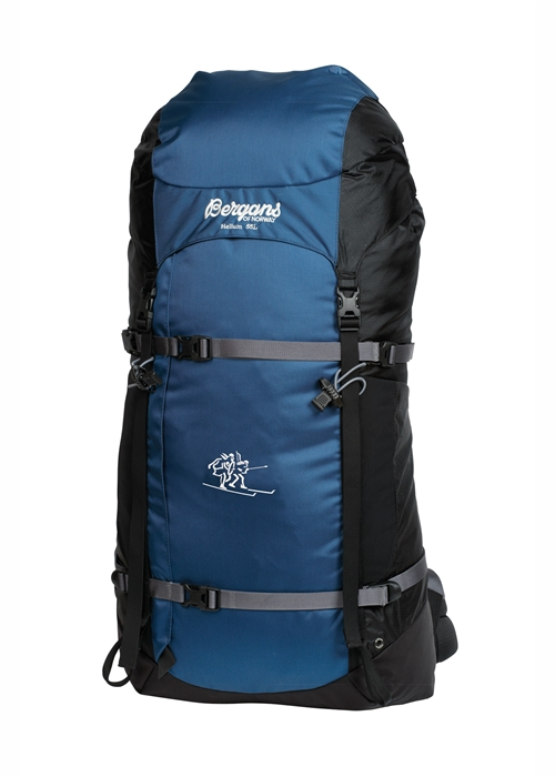 Helium 55L Backpack weighing 2lbs. 6oz.