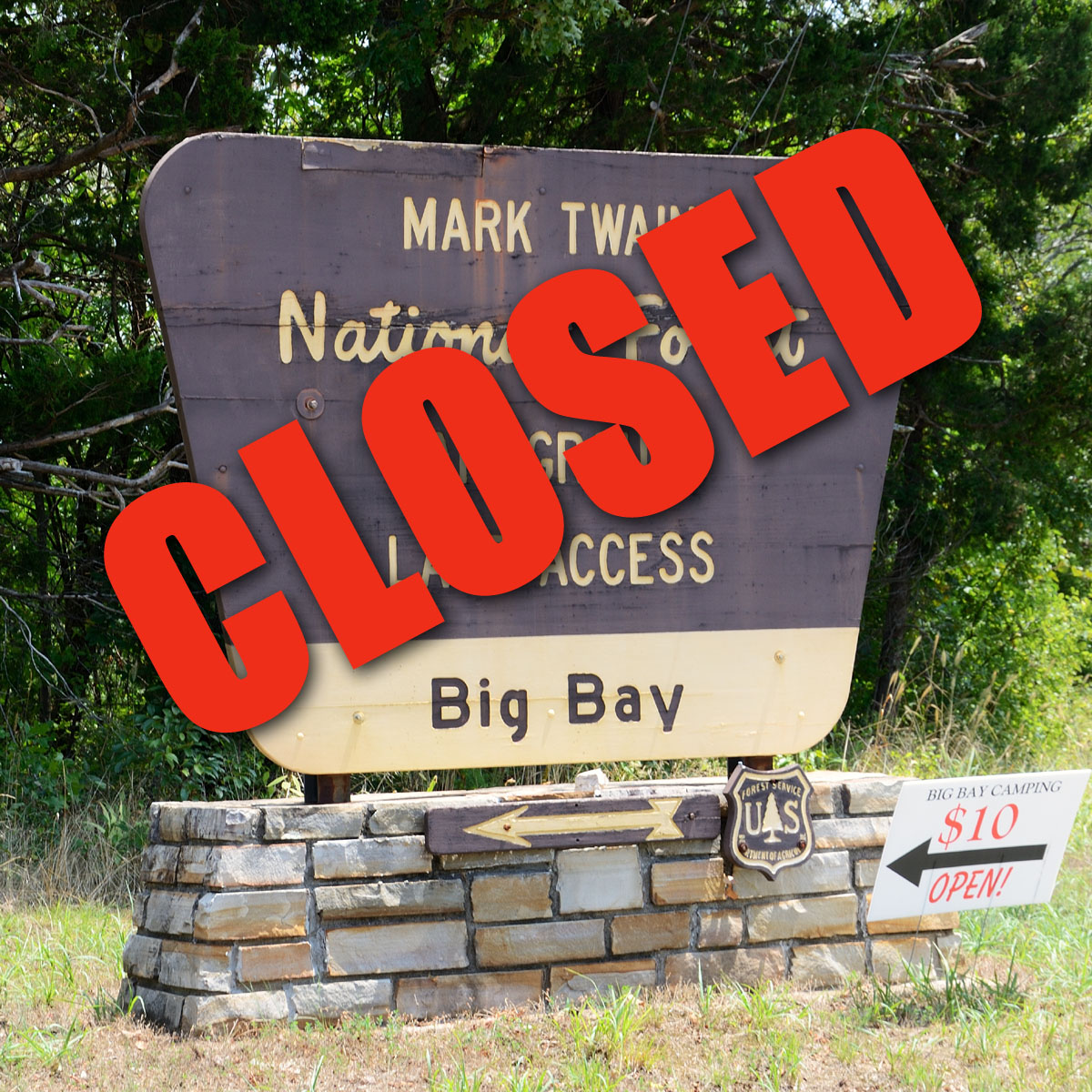 Mark Twain National Forest Closes Big Bay Campground