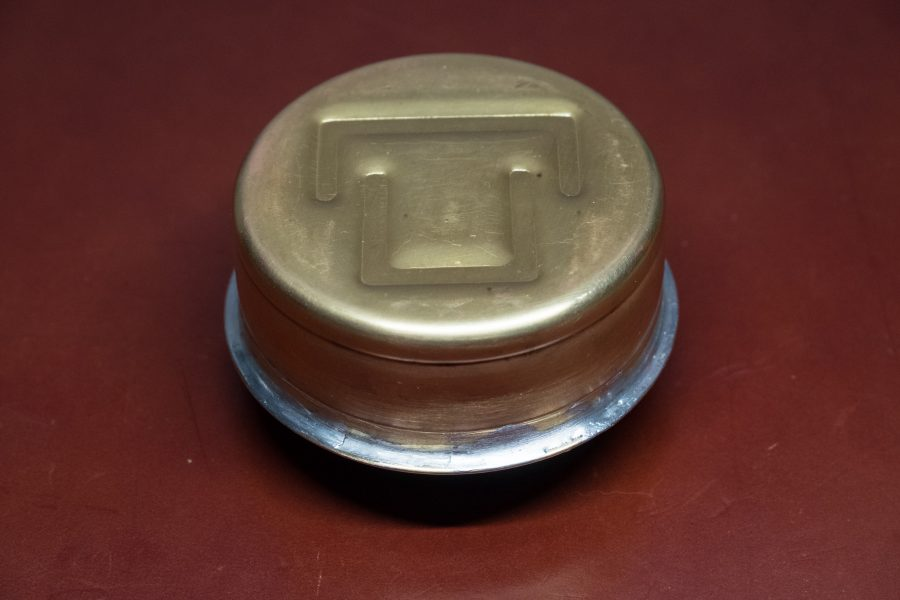 Photograph of a Trangia Alcohol Stove with soldered seam